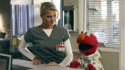 Elmo on Scrubs