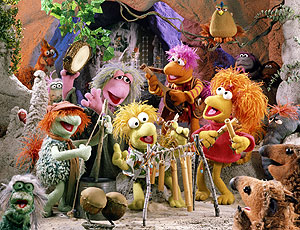 Gobo, Red, Mokey, Wembley and Boober Fraggle