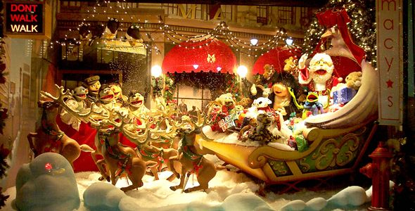 Muppet Central News Macy S Window 6 Santa S Sleigh
