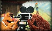 Fozzie and Rowlf in The Muppet Movie