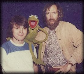 Terry Angus, Jim Henson, and Kermit.