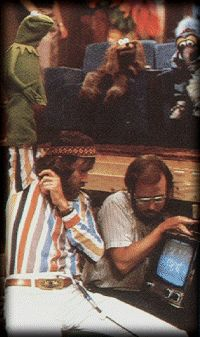 Henson filming the Muppet Movie.