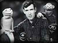 Jim with the characters of Sam and Friends