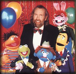 Jim Henson and his Sesame Street characters