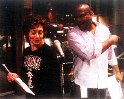 Fran Brill and Kevin Clash in studio