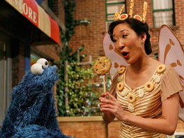 Sandra Oh as the Fairy Cookie Person.