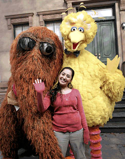 Leela, Big Bird and Snuffy